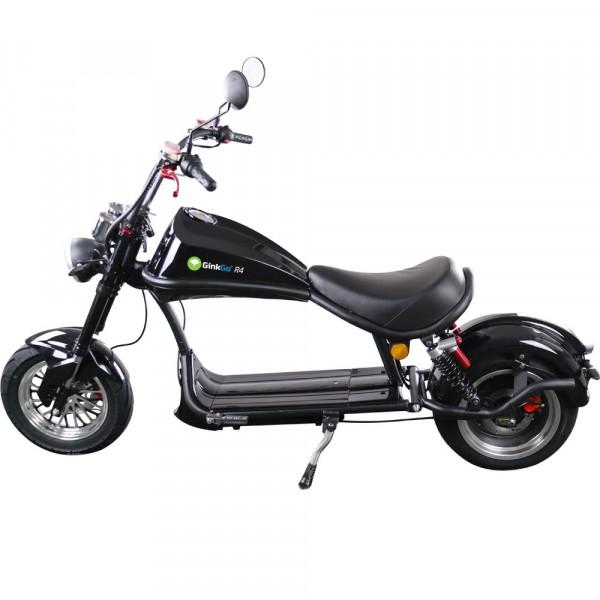 GinkGo R4 Elektro-Motorroller Chopper - im Rocker Style bis 45 km/h - schwarz