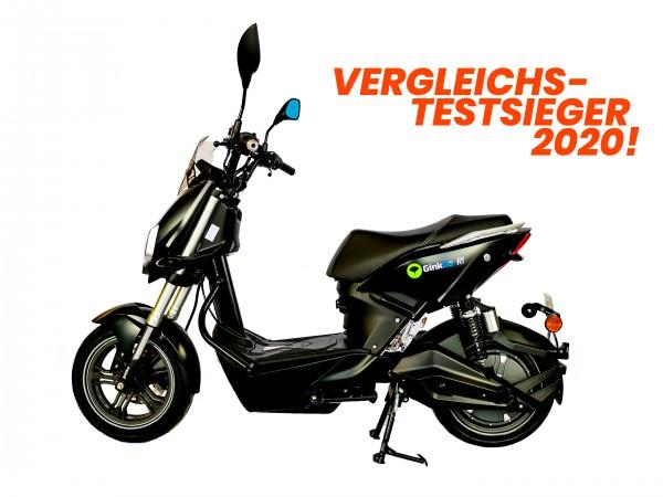 GinkGo R1 Elektroroller - Unser Vergleichs-Testsieger 2020! - schwarz- bis 45km/h