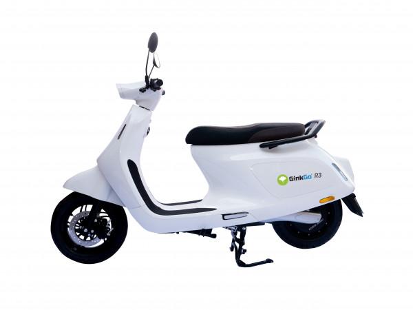 GinkGo R3 Elektro-Motorroller in Snow-White (bis 45 km/h)