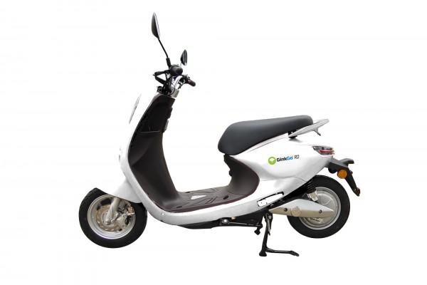 GinkGo R2 Elektroroller bis 45 km/h, snow-white - weiss mit Funk-Schlüssel & Alarmanlage