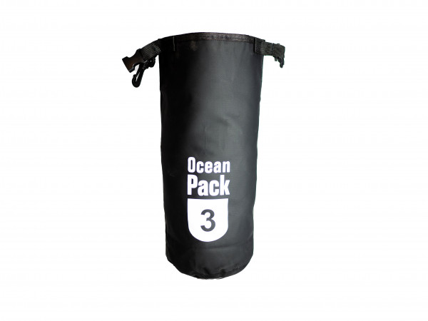 GinkGo Ocean Bag 3 - Schutzbeutel für Outdoor - Wasserdicht 3 Liter - schwarz